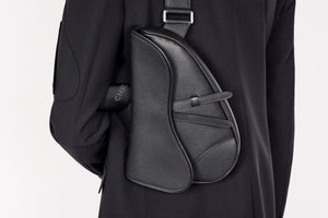 Saddle Bag • Black Grained Calfskin