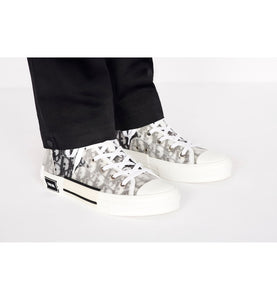 B23 High-Top Sneaker • White Dior Oblique Technical Fabric