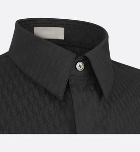 Shirt with Dior Oblique Motif • Black Cotton Jacquard