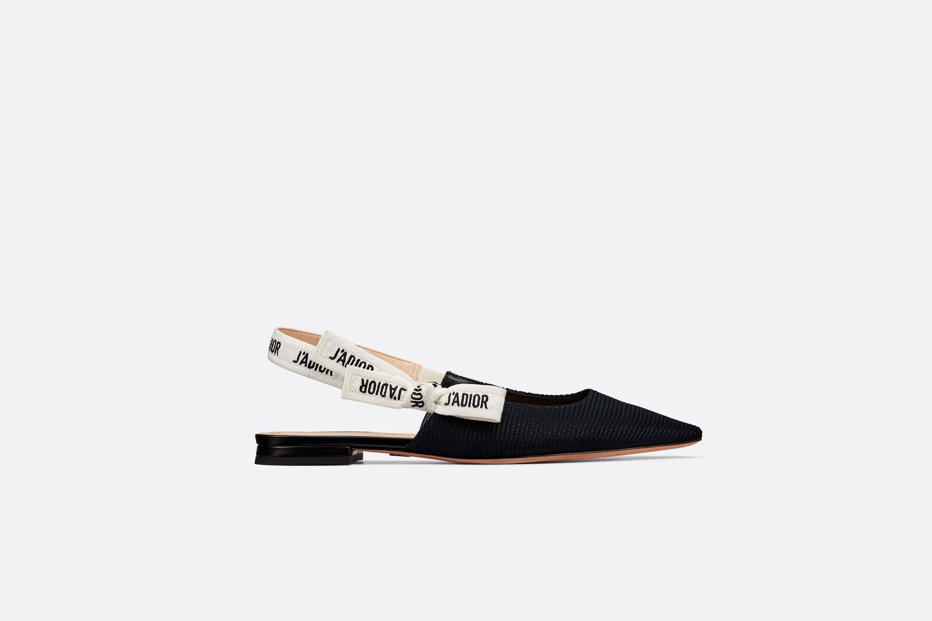 J'Adior Ballerina Flat • Black Technical Fabric