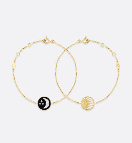 Rose Céleste Bracelet • Yellow and White Gold, Diamond, Mother-of-pearl and Onyx