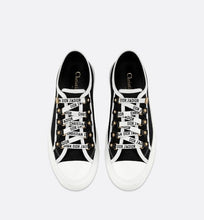 Load image into Gallery viewer, Walk'n'Dior Low-Top Sneaker • Black Calfskin and Canvas
