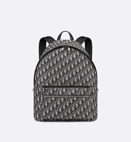 Rider Backpack • Beige and Black Dior Oblique Jacquard