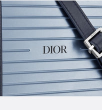 Load image into Gallery viewer, DIOR and RIMOWA Personal Clutch • Blue Aluminum and Grained Calfskin