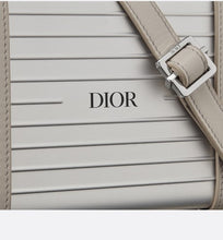 Load image into Gallery viewer, DIOR and RIMOWA Personal Clutch • Gray Aluminum and Beige Grained Calfskin