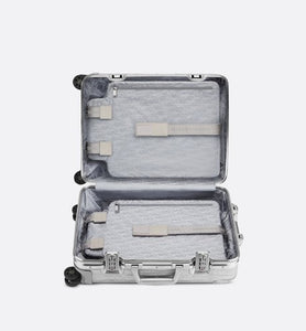 DIOR and RIMOWA Cabin Suitcase • Gray Dior Oblique Aluminum