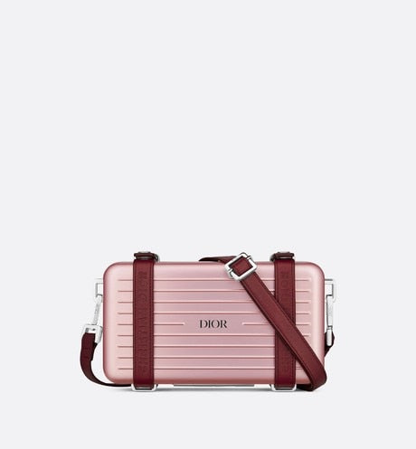 DIOR and RIMOWA Personal Clutch • Pink Aluminum and Grained Calfskin