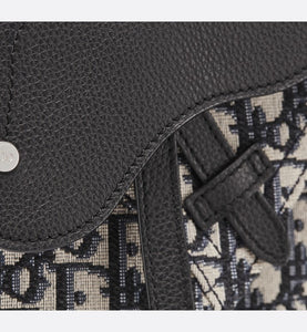Messenger Bag • Beige and Black Dior Oblique Jacquard