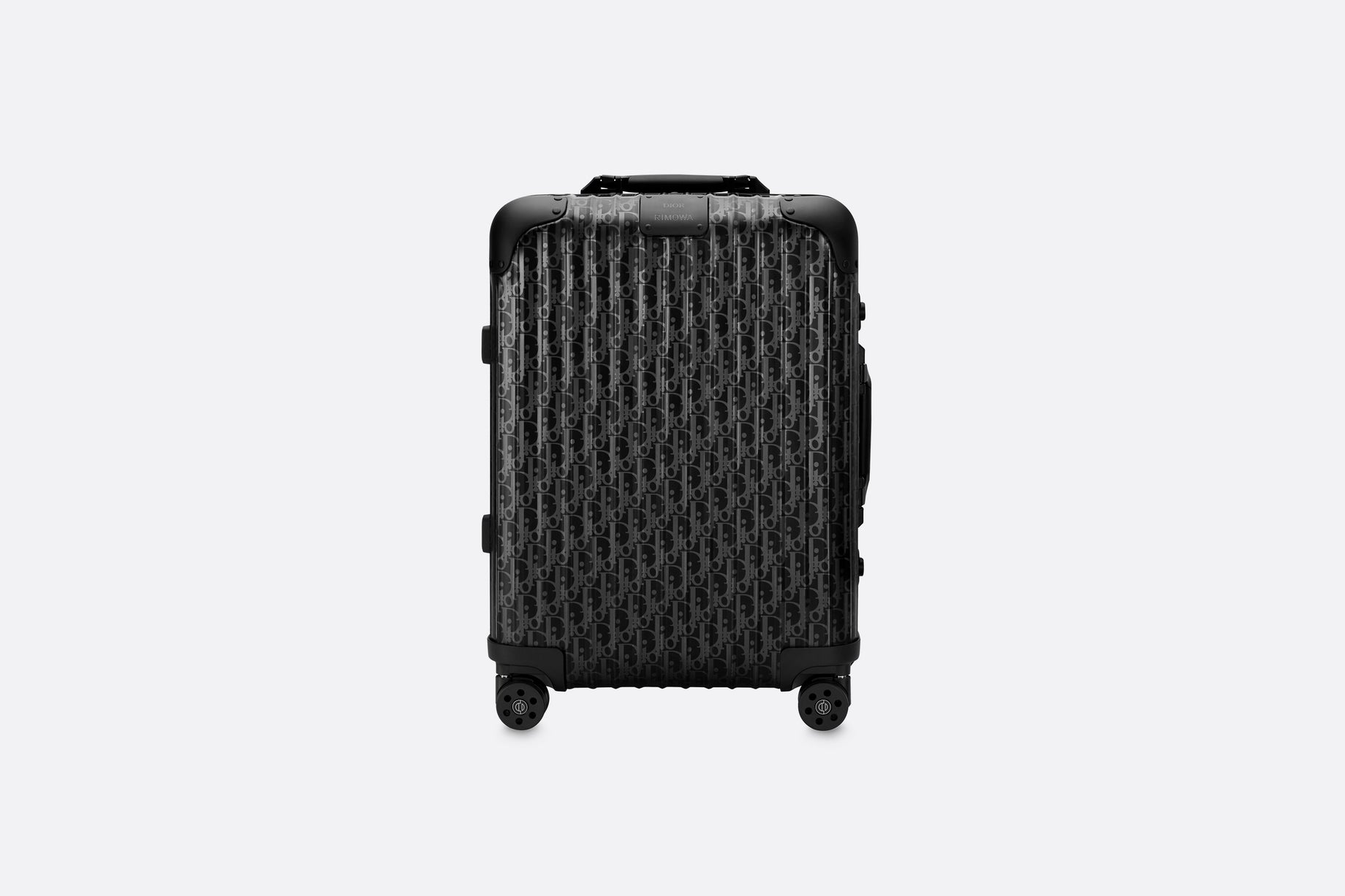 DIOR and RIMOWA Cabin Suitcase • Black Dior Oblique Aluminum