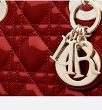 Load image into Gallery viewer, Mini Lady Dior Bag • Cherry Red Cannage Patent Calfskin