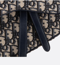 Load image into Gallery viewer, Saddle Bag • Blue Dior Oblique Jacquard