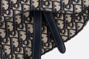 Saddle Bag • Blue Dior Oblique Jacquard