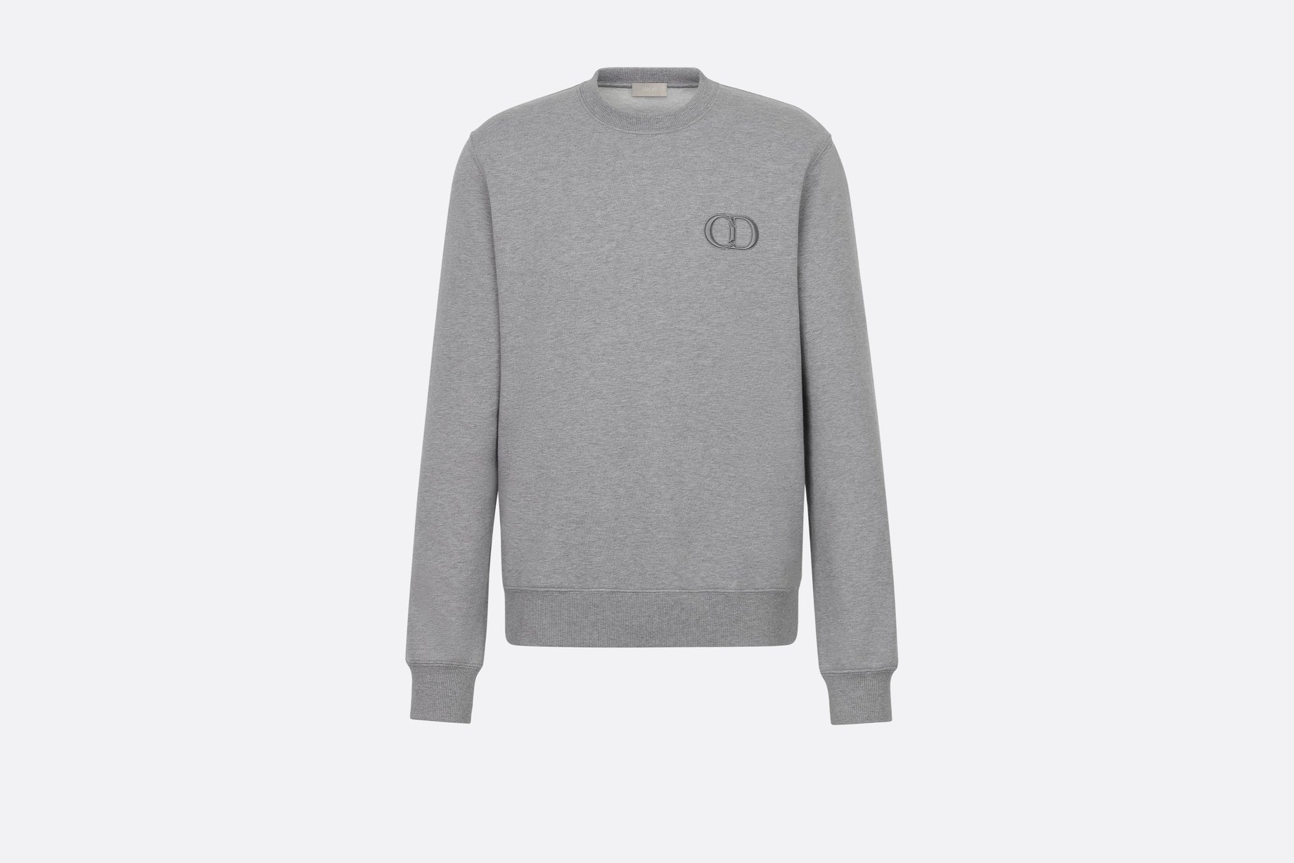 Sweatshirt with 'CD Icon' Signature • Gray Cotton Jersey