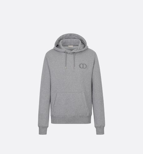 Hooded Sweatshirt with 'CD Icon' Signature • Gray Cotton Jersey