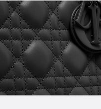 Load image into Gallery viewer, Medium Lady Dior Bag • Black Ultramatte Cannage Calfskin