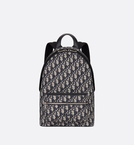 Backpack • Blue Dior Oblique Jacquard