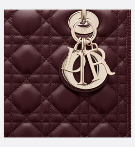 Medium Lady Dior Bag • Amaranth Lambskin