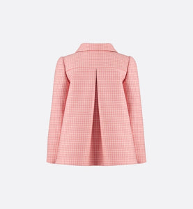 Cropped Coat • Rosewood Houndstooth Cashmere and Wool