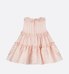 Dress • Pale Pink Striped Jacquard