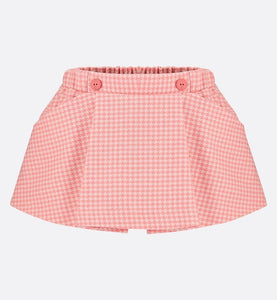 Skort • Rosewood Houndstooth Cashmere and Wool