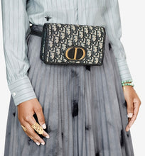 Load image into Gallery viewer, 30 Montaigne 2-in-1 pouch • Blue Dior Oblique Jacquard