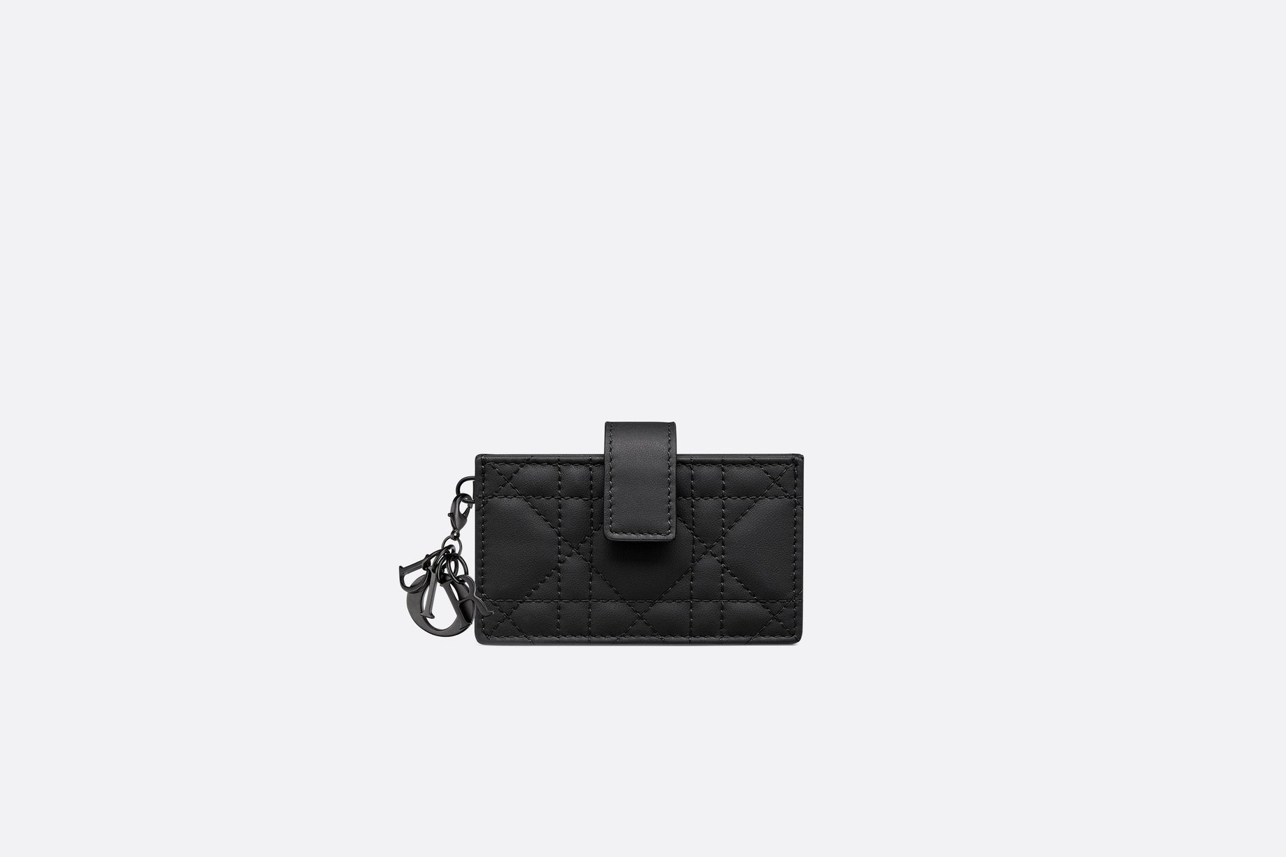 Lady Dior 5-Gusset Card Holder • Black Ultramatte Cannage Calfskin