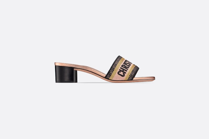 Dway Heeled Mule • Multicolor Metallic Thread and Cotton