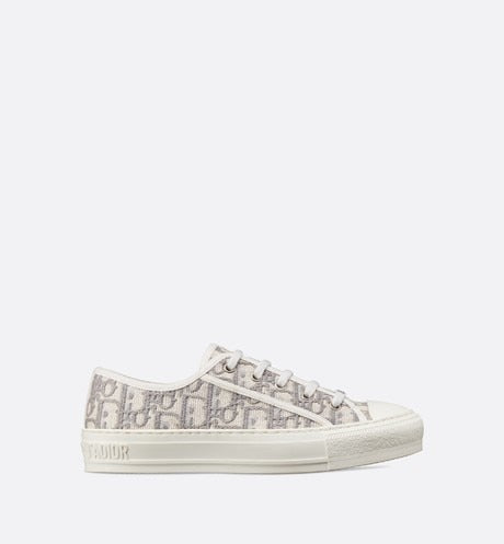 Walk'n'Dior Sneaker • Gray Dior Oblique Embroidered Cotton