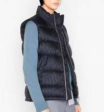 Load image into Gallery viewer, Dior Oblique Sleeveless Down Jacket • Navy Blue Jacquard