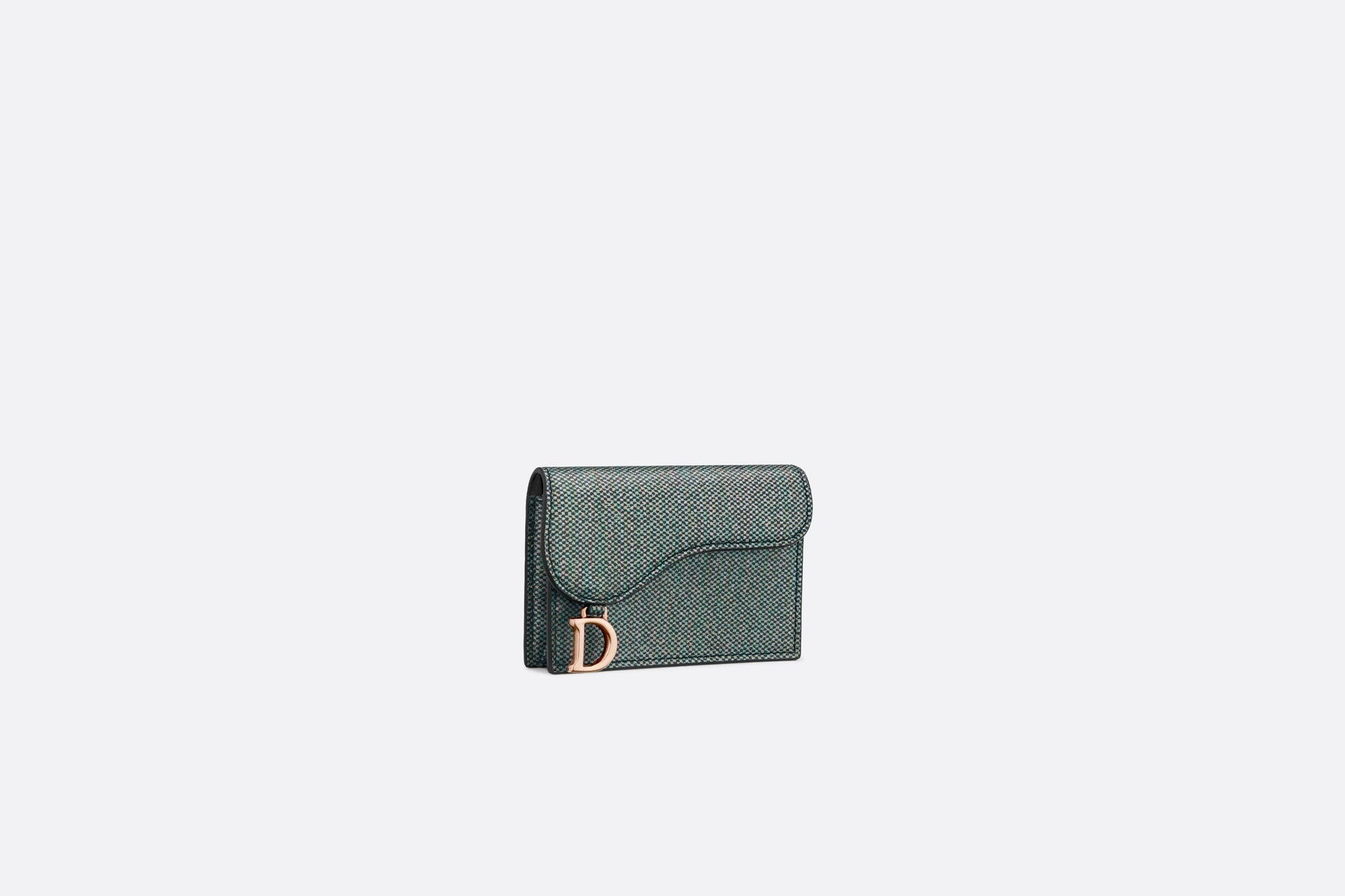 Saddle Card Holder • Multicolor Metallic Lambskin