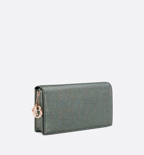 Lady Dior Pouch • Multicolor Metallic Lambskin