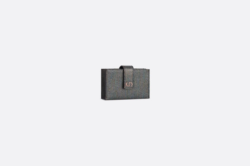 30 Montaigne 5-Gusset Card Holder • Multicolor Metallic Lambskin