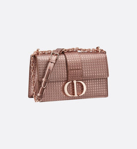 30 Montaigne Chain Bag • Hyper-Pink Gold Metallic Microcannage Calfskin