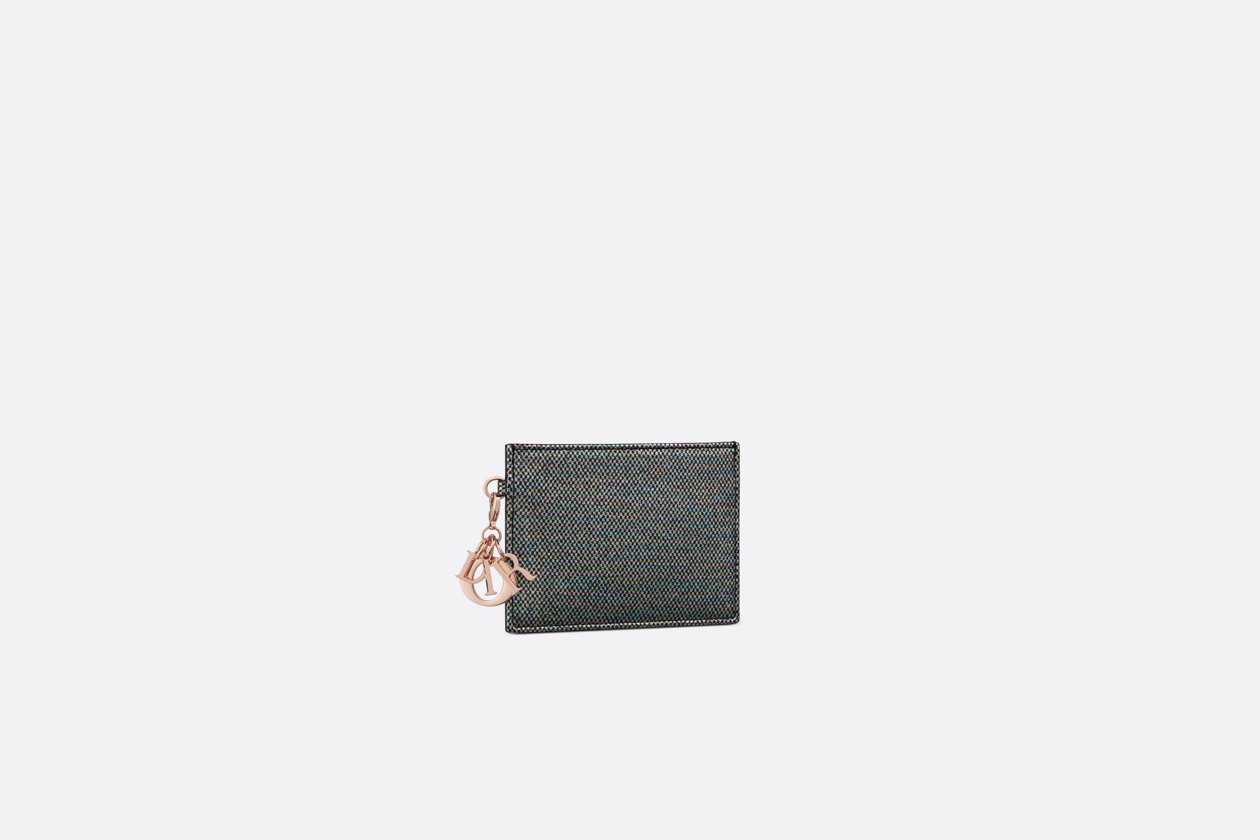 Lady Dior Flat Card Holder • Multicolor Metallic Lambskin