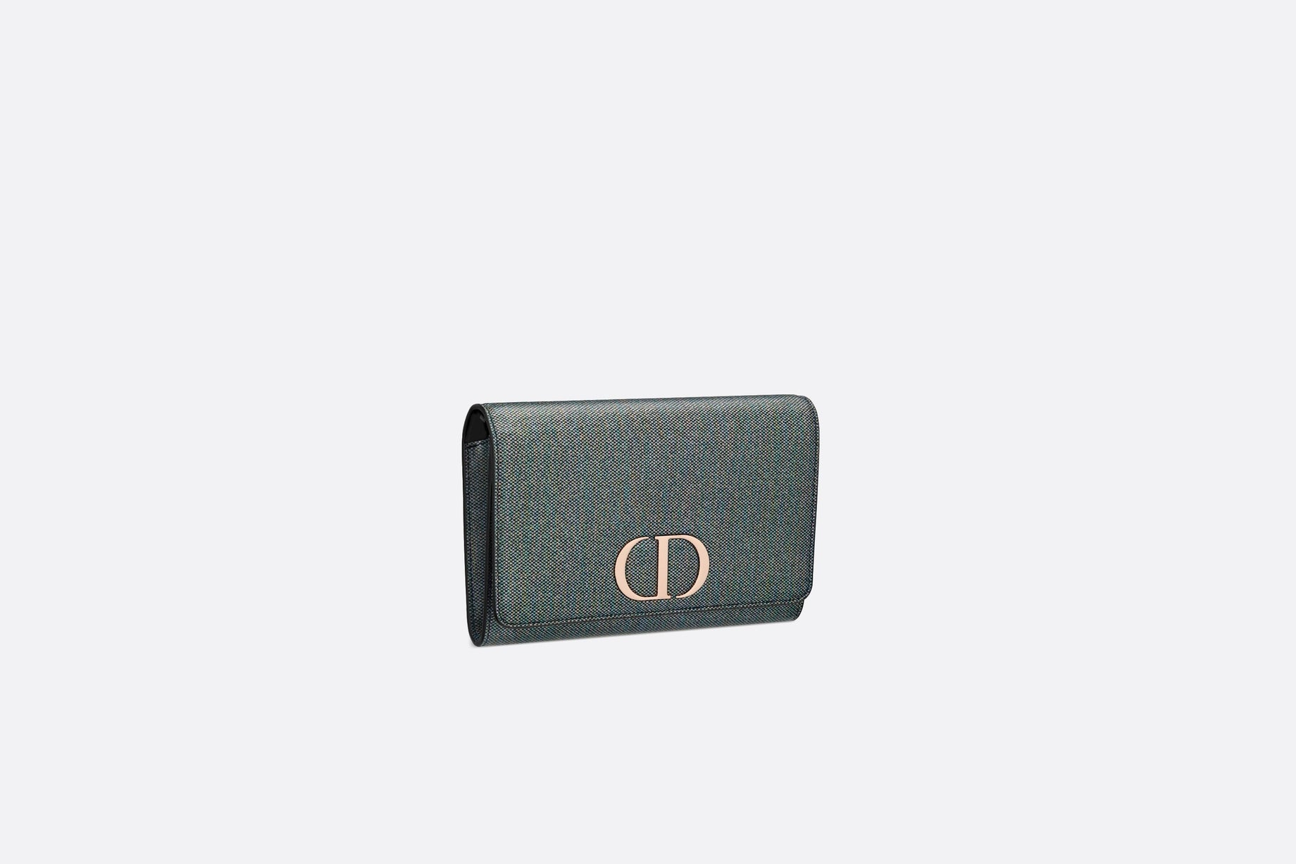 30 Montaigne Wallet on Chain • Multicolor Metallic Lambskin