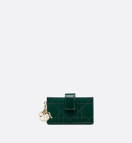 Lady Dior 5-Pocket Card Holder • Green Calfskin