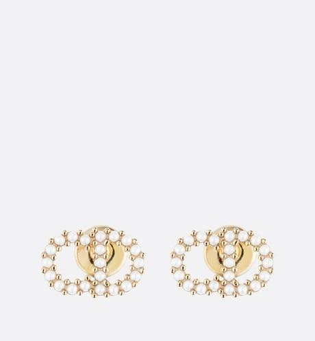 Clair D Lune Earrings • Gold-Finish Metal and White Resin Pearls