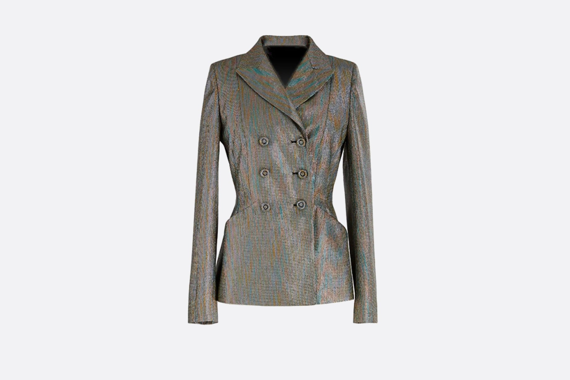 Double-Breasted Bar Jacket • Multicolor Lurex Canvas