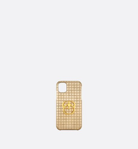 30 Montaigne Cover for iPhone 11 • Metallic Stardust Gold Microcannage Calfskin