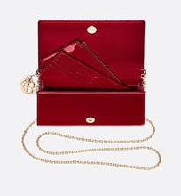 Load image into Gallery viewer, Lady Dior Pouch • Cherry Red Cannage Patent Calfskin