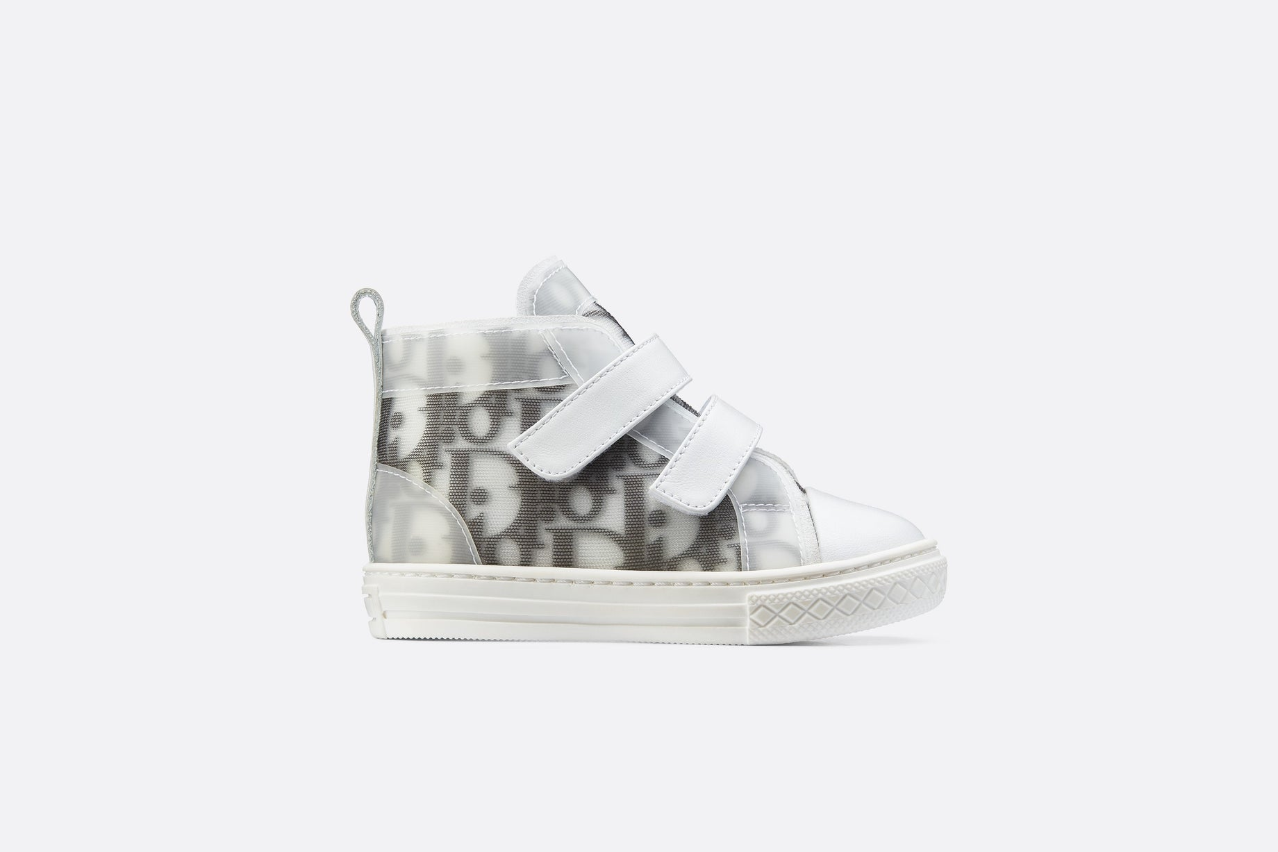 B23 High-Top Sneaker • White and Black Dior Oblique Technical Fabric