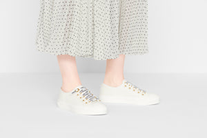 Walk'n'Dior Low-Top Sneaker • White Calfskin and Canvas