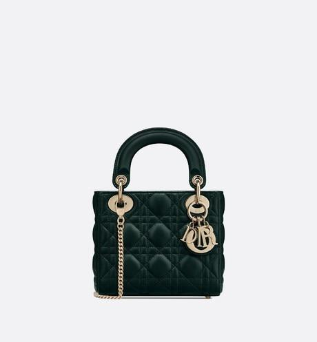 Mini Lady Dior Bag • Deep Green Cannage Lambskin