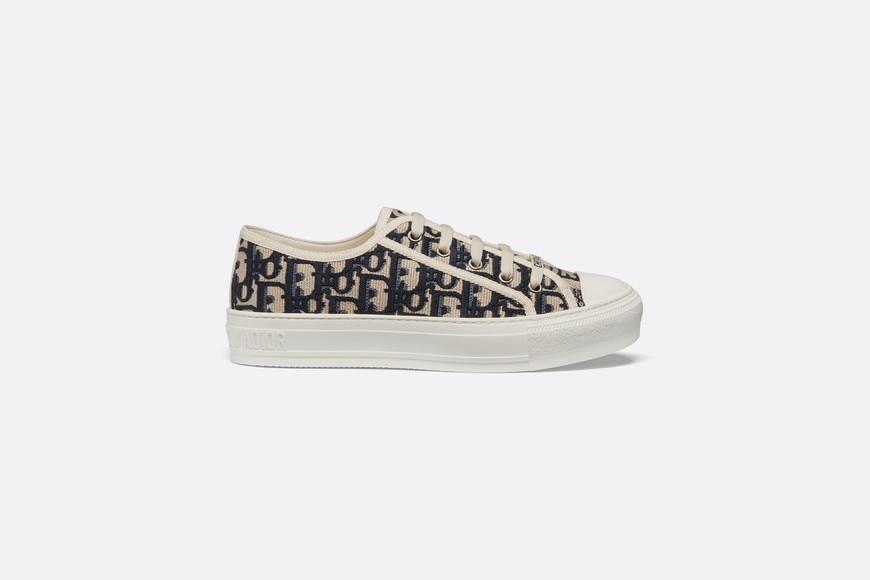Walk'n'Dior Sneaker • Blue Dior Oblique Embroidered Canvas