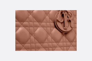 Medium Lady Dior Bag • Blush Ultramatte Cannage Calfskin