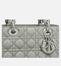 Load image into Gallery viewer, Medium Lady Dior Bag • Metallic Gray Cannage Calfskin