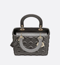 Load image into Gallery viewer, Medium Lady Dior Bag • Metallic Gunmetal Cannage Grained Calfskin
