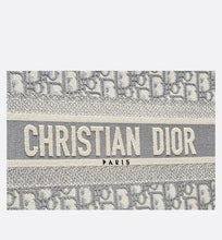 Load image into Gallery viewer, Small Dior Book Tote • Gray Dior Oblique Embroidery