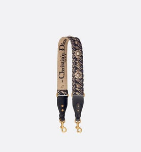 Shoulder Strap • Blue Dior Oblique Jacquard
