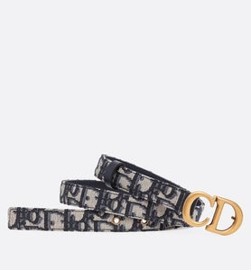 Saddle Belt • Blue Dior Oblique Jacquard, 20 MM
